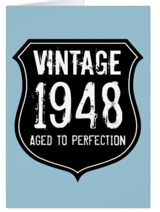 Vintage Aged To Perfection 70th Birthday Card