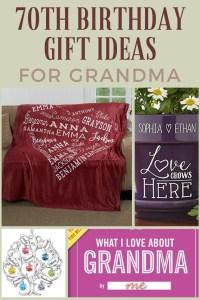 70th Birthday Gift Ideas for Grandma