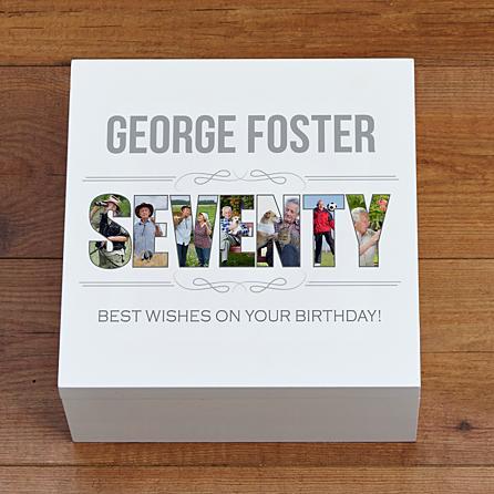 Personalized 70th Birthday Keepsake - 70th Birthday Gift Ideas