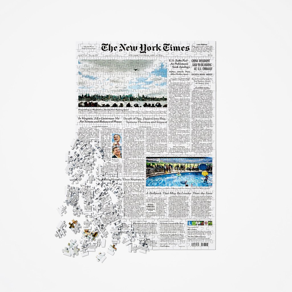 NYT Front Page Puzzle