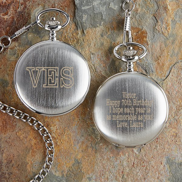 Personalized Pocket Watch - Thoughtful Gift for 70th Birthday