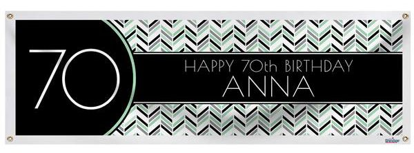 70th Birthday Banner - Great 70th Birthday Party Decoration