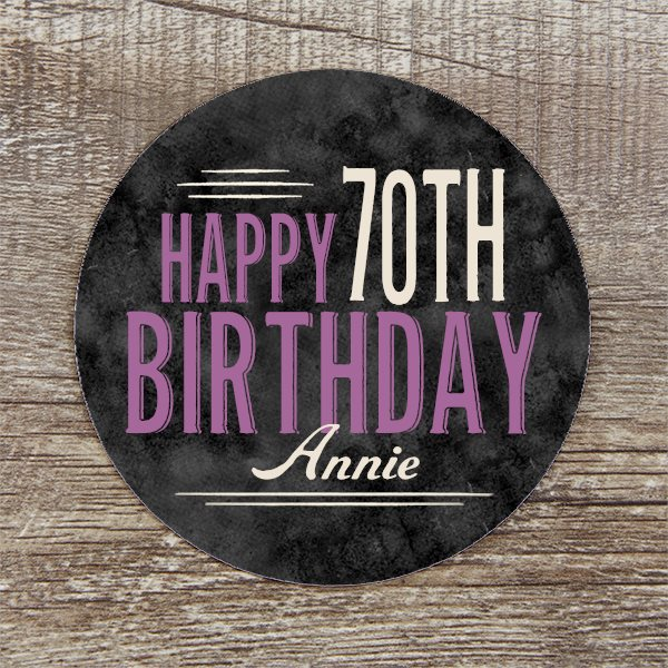 Personalized Coasters - Great 70th Birthday Party Decoration