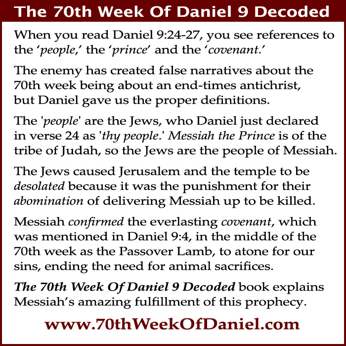 70th week of Daniel 9 Messiah, Jews, Jerusalem