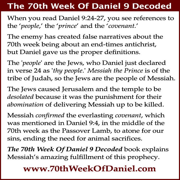 70th week of Daniel 9 Messiah, Jews, Jerusalem