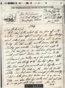 Charles Bruns Letter Home 1944