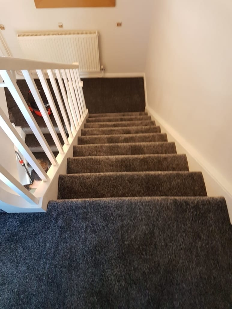 Stairs Carpet In Hemel Hempstead Lazio Heathers Platinum Dark Grey Herts Carpets