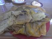 tamales con mole negro unwrapped