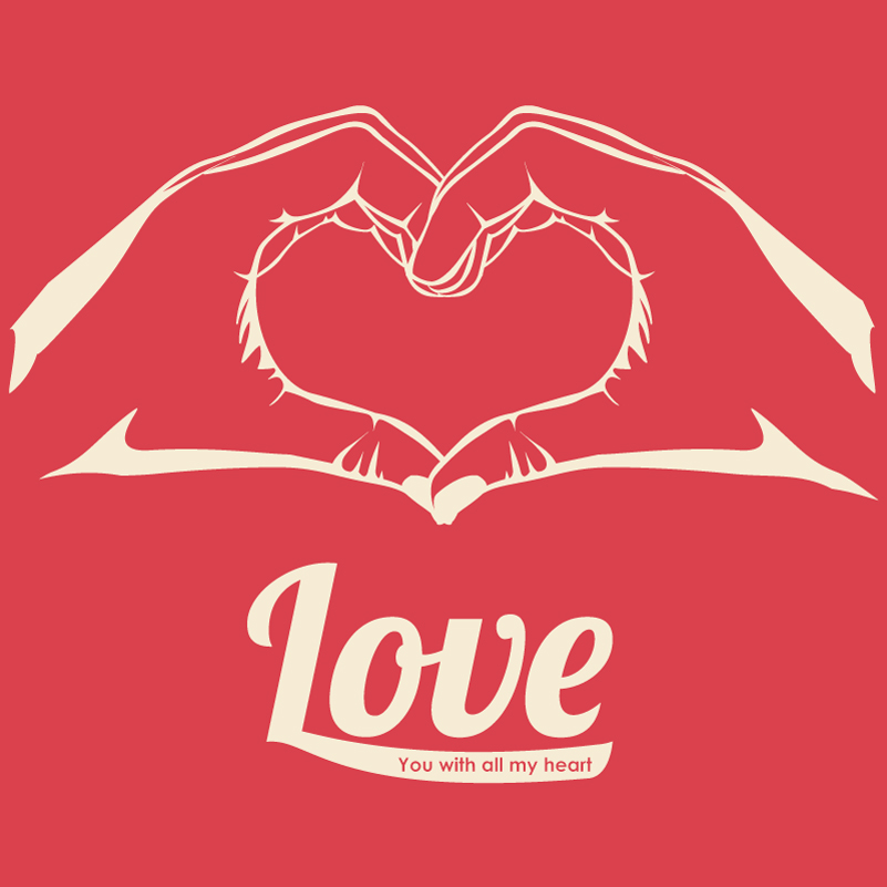 Download Valentine's Day Hand Love Heart Vector | Free Vector ...