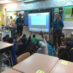 Mary Peters and Emma Olesen co-teaching in the classroom.