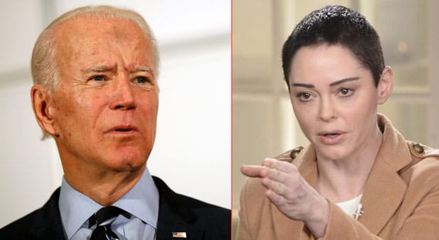 rose mcgowan has called on joe biden to end his campaign and blasted him as a creep