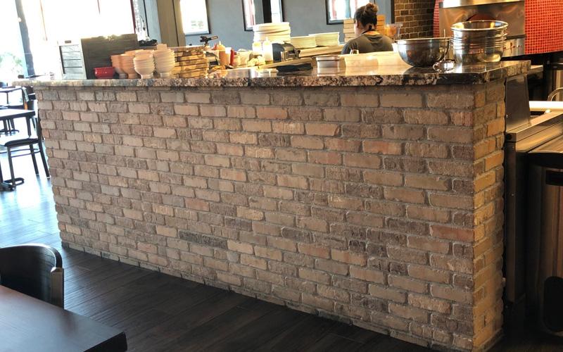 brick stone veneer concrete pavers