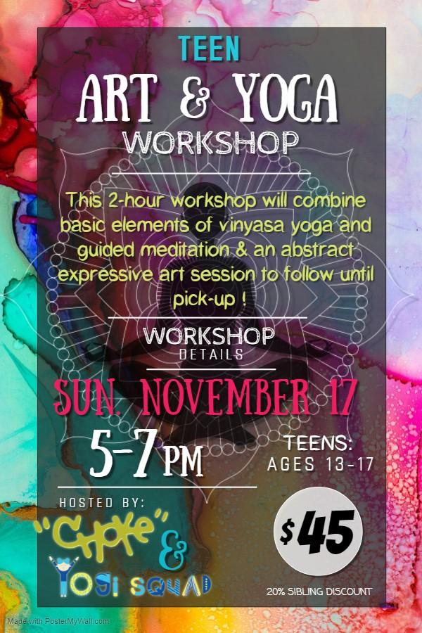 Teen Yoga and Art Workshop
