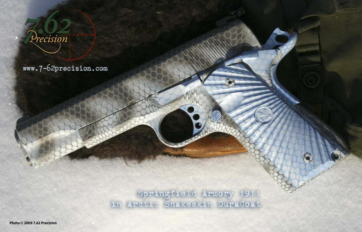 Springfield Armory 1911-A1 in Arctic Operator Snakeskin finish