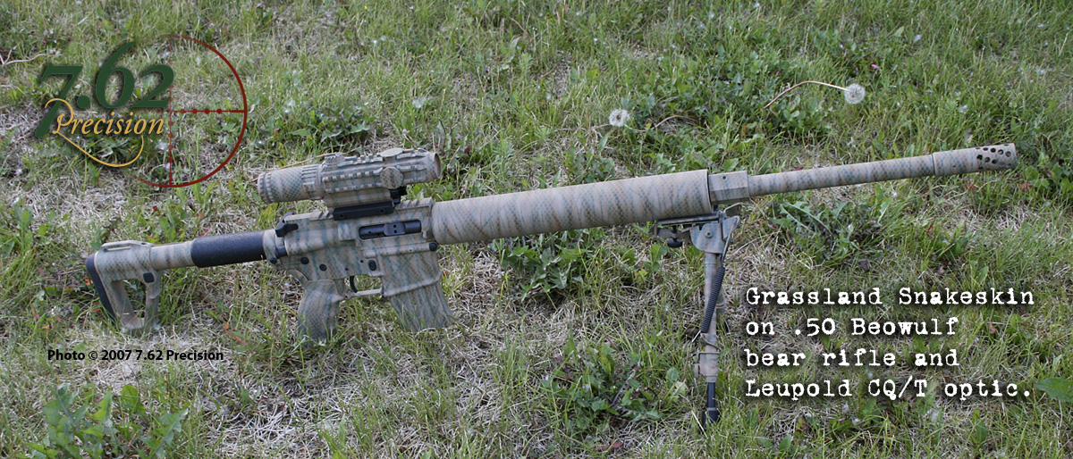 Alexander Arms .50 Beowulf with Leupold CQ/T in Grassland Snakeskin