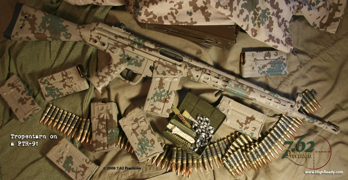 PTR-91 and Magazines finished in German Tropentarn Pattern