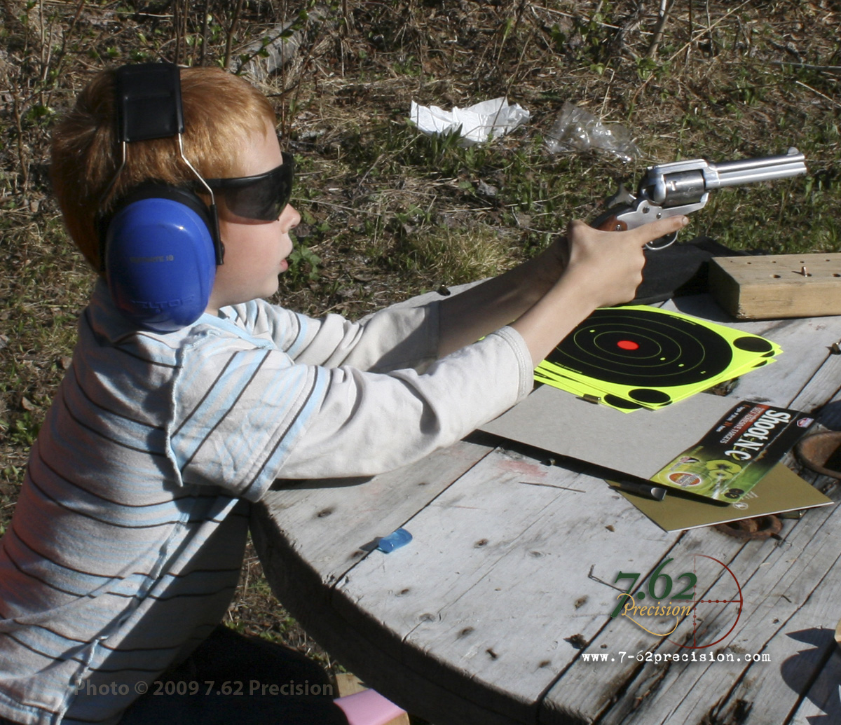With its perfect blend of balance, size, and simplicity, the Ruger Bearcat .22 LR revolver is an ideal first pistol for a child. The bear and puma rollmark on the cylinder is popular with children.