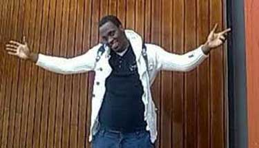 """Edson """"'Eddy"""" Cosmas of Tanzania after his 2011 release from a British detention center."""