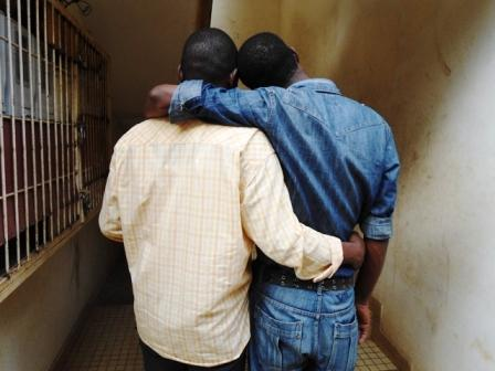 Two gay men in Cameroon (Photo by Eric Lembembe)