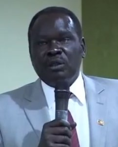 Hilary Onek, Ugandan interior minister (Photo courtesy of NTV)