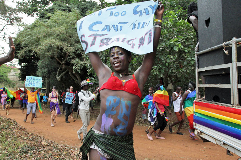 Celebrating at Uganda's first pride parade. (Photo courtesy of RachelAdamsPhotography.com)
