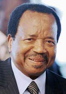 Paul Biya, president of Cameroon (Photo courtesy of LesAfriques.com)