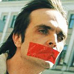 LGBT activist Igor Kochetkov during recent protest.