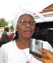 Sandrine Soppo, leader of the Association of Cameroon Roman Catholic Jurists . (Photo courtesy of Leffortcamerounais)