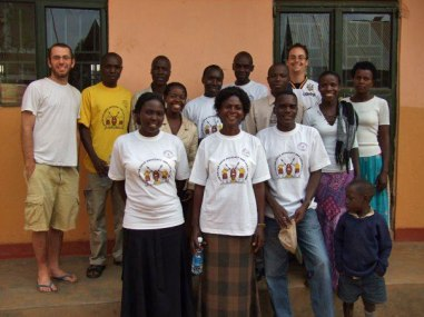 Josh Scheinert and other volunteers in Uganda pose for their portrait in 2007. (Photo courtesy of Josh Scheinert)