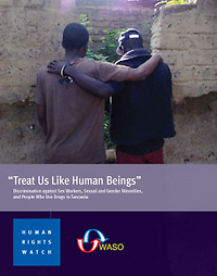 "Cover of the report ""Treat Us Like Human Beings."" (Click the image for links to the report.)"