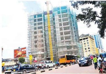 Church House project under construction in Kampala, Uganda. (Photo courtesy of New Vision)