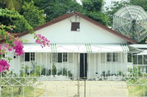 Dewsbury Avenue house where a group of gay men were evicted July 5 after being evicted elsewhere on July 3. (Photo courtesy of Jamaica Observer)