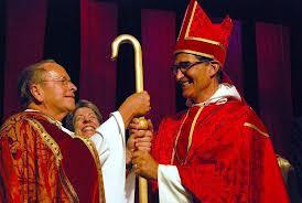 Bishop Rob Hirschfeld (right) with his predecessor, Bishop Gene Robinson (Photo courtesy of Episcopal Digital Network)
