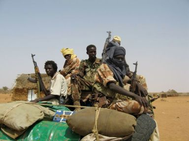 Darfur war scene. (Photo courtesy of World Without Genocide)