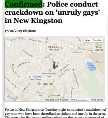 OG.NR report on police crackdown on homeless LGBT men.