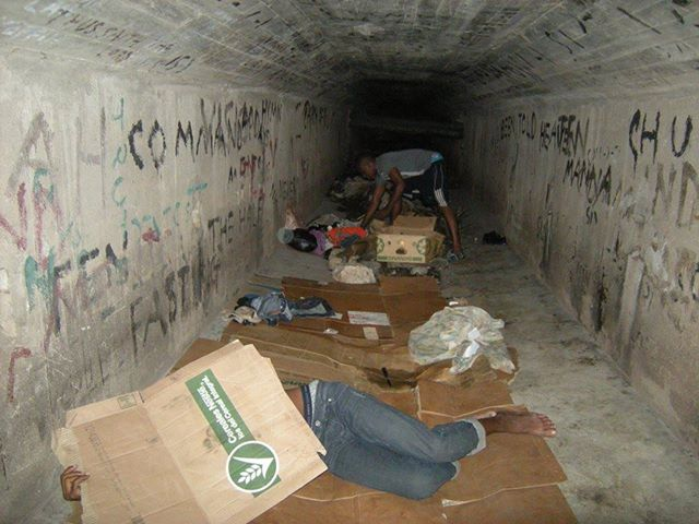 Jamaican LGBT youths living in sewers. (Photo courtesy of Facebook)