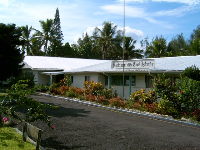 The Cook Islands parliament building, a former hotel. (Photo courtesy of Wikipedia)