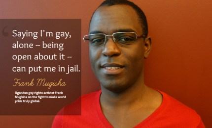 Frank Mugisha (Photo courtesy CBC Radio)
