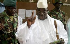 Gambian President Yahya Jammeh (Photo courtesy of AFP and Senenews.com)