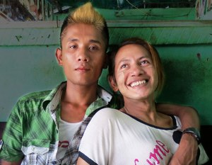 LGBTI couple in Myanmar (Photo courtesy of Kyoto Review)