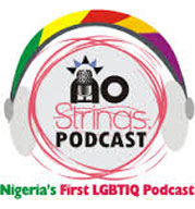 Logo of the No Strings podcast