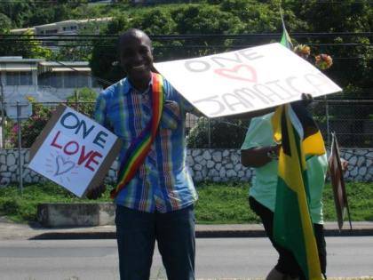 Activist/attorney Maurice Tomlinson at Montego Bay Pride, Jamaica, on Oct. 25, 2015. (Photo courtesy of Maurice Tomlinson)