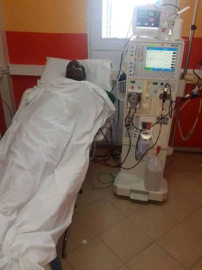 Muhadh Ishmael in his hospital bed. (Photo by Joseph Odero)