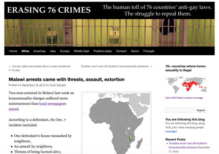 "Malawi News Now republished almost unchanged this blog's article, ""Malawi arrests came with threats, assault, extortion."""