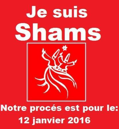 """I am Shams"" states this show of support that its allies can display on Facebook. A hearing on whether the government should revoke the LGBT group's registratration is scheduled for Jan. 12, 2016."