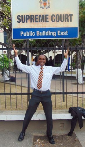 Maurice Tomlinson today at the Jamaican Supreme Court. (Photo courtesy of Facebook)
