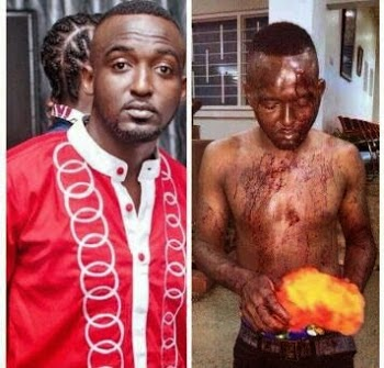 Kinto Rothmans before and after February attack. (Photo courtesy of Flex Newspaper and others)