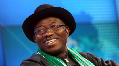 "Goodluck Jonathan, former president of Nigeria: "" the nation may, at the appropriate time, revisit the law."" (Photo courtesy of Bloomberg)"