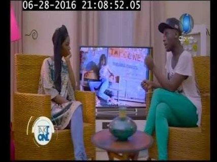 Godfrey Majunga's interview last June on Clouds TV (Photo courtesy of YouTube)
