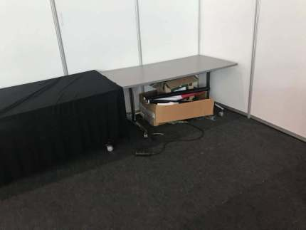 MSM networking zone at ICASA 2017 after the vandalism. (AMSHeR photo courtesy of Meg Davis)